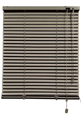 Decorestor Persianas Venecianas de Aluminio A TU Medida, Anchos de 36 a 240cm. Gris Oscuro. Venecianas Aluminio, Cortinas venecianas