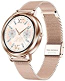 Smart Watch 2021 Full Touch Round Fashion Mujeres Smartwatch Señora Salud Seguimiento Reloj para Ios Android-A