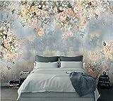 Papel Pintado Fotográfico 350x256 cm - 7 tiras Flor abstracta azul Tipo Fleece no-trenzado XXL Salón Dormitorio Despacho Pasillo Decoración murales decoración de paredes moderna
