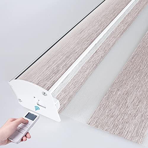 XRDSHY Rollos Elektrisch Doppelrollo Sichtschutz Rollos Für Fenster Tür Blickdicht Und Sonnenschutz,Duo Rollo Fensterrollo,Khaki-90cm x 150cm