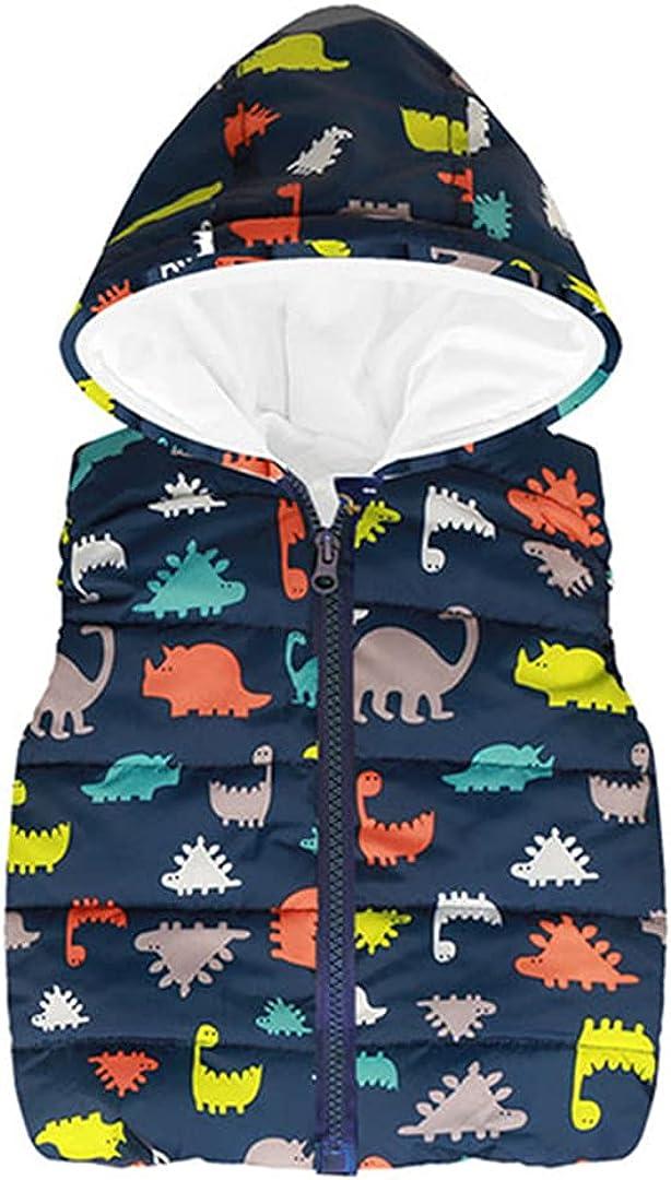 Autumn Winter Warm Kids Vests for Boys Rainbow Outerwear Sleeveless Hooded Jackets Baby Boy Coats