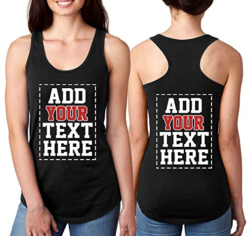 Custom Tank Tops for Women - Design Your Own Racerback Tank Top - Customized & Personalized Tanktops...