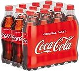 Coca-Cola Classic, Pure Erfrischung mit unverwechselbarem Coke Geschmack in stylischem Kultdesign, EINWEG Flasche (12 x 500 ml)