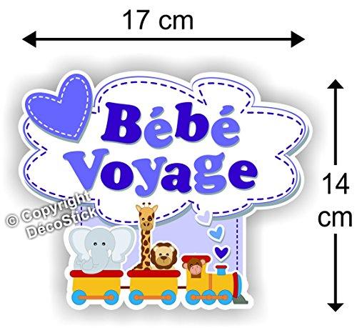 Sticker Bébé Voyage Bleu - Autocollant bébé à Bord garçon