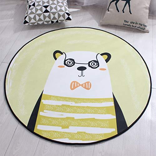 Zhao Li vloerbedekking moderne casual ronde omgeving tapijt gemakkelijk te reinigen Vlek Fade Resistant Abstract hedendaagse zachte woonkamer eetkamer tapijt tapijten (kleur: J, Maat : 120cm (47inch) in diameter)