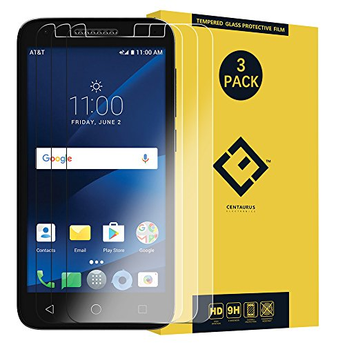 5044 Screen Protector,(3 Packs) Anti-glare Ultra-thin clear 9H Hardness Tempered Glass Protective Film Compatible with Alcatel Cameox Cameo x Ideal Xcite 5044R /Verso /U50 5044S /Raven LTE A574BL 5.0