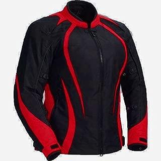 Juicy Trendz Motorcycle Motorbike Biker Cordura Waterproof Textile Jacket Red