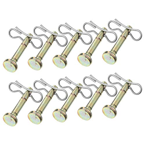 Hemoton 10 Stück Scherbolzen und Splint Metall Ersatz Scherstifte Kompatibel für MTD 714-04040 und 738-04124 Cub Cadet Schneewerfer