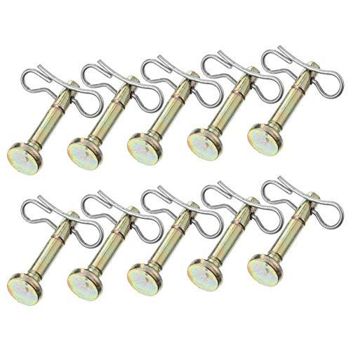 Angoily Juego de 20 piezas / Juego de puntas de tijera y pasador compatibles para quitanieves 714-04040 738-04124 Cub Cadet MTD Troy Bilt