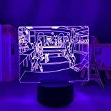 3D LED Decorative lights Anime Sword Art Online Figure 3D LED Night Light for Bedroom Decor Night Light Birthday Gift Table Room Lamp Manga SAO Party Bar Atmosphere