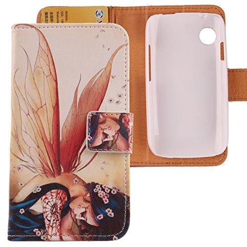 Lankashi PU Flip Leder Tasche Hülle Hülle Cover Schutz Handy Etui Skin Für Wiko Ozzy Wing Girl Design