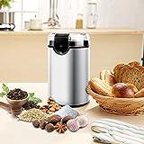 Elektrische Kaffeemühle, morpilot Edelstahl Coffee Grinder, Mühle für Kaffeebohnen Gewürz Getreide Nüsse, mit Reinigungsbürste, Edelstahlmesser(150W, 70g Fassungsvermögen) - 6