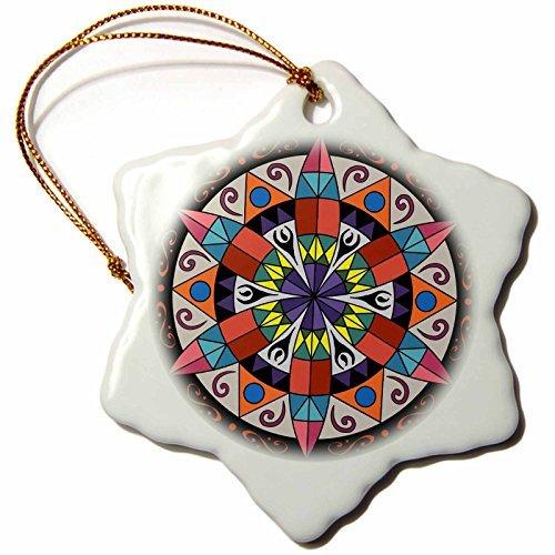 cwb2jcwb2jcwb2j 3-Inch Porcelain Snowflake Decorative Hanging Ornament, Hex Sign Pennsylvania Dutch Luck Protection Symbol-
