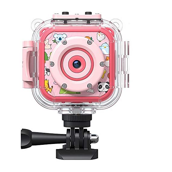 """Victure Kids Camera Waterproof 1080p Full HD Video Camcorders Sports Action Digital Camera with 16GB SD Card for Girls… 1 <p>【8MP Photo & 1080p HD Video & 16GB card】 Victure Kids Camera KC200 features Full HD 1080p@/30fps videos and 8MP bright photos, shooting the most memorable moments of children. Large-capacity storage card is good for children to take a lot of photos and videos. KC200 is the best action camera as a Christmas/ birthday/ holiday gift for children 4-12 years. 【Durable & Waterproof Case】With the professional IP68 level waterproof case, Victure waterproof video kids camera can be used underwater 30m (100ft) to explore adventures, best for beach, diving, swimming, drifting, snorkeling, surfing and more. 【Colorful Filters & Unique Frames】 With built-in 7 colorful video filters and 6 unique designed photo frames, Victure kids camera can fully develop children's creativity. 2"""" LCD color screen presents and view all images directly, making recording a lifestyle. 【Useful Accessories & Multiple combinations】Included Class 10 Micro SD 16GB Card and versatile mounting kits allow the kids sports camera arrive and play, can be attached to skateboards, bike or helmets. Durable neck strap ensure safe using and full-protection. 【Excellent After-Sales Service】Victure Kids Camera supports 30-days money back and 12 months warranty and free customer service for life. A qualified after-sale service team, 7 days/ 24 hours serving for you.</p>"""