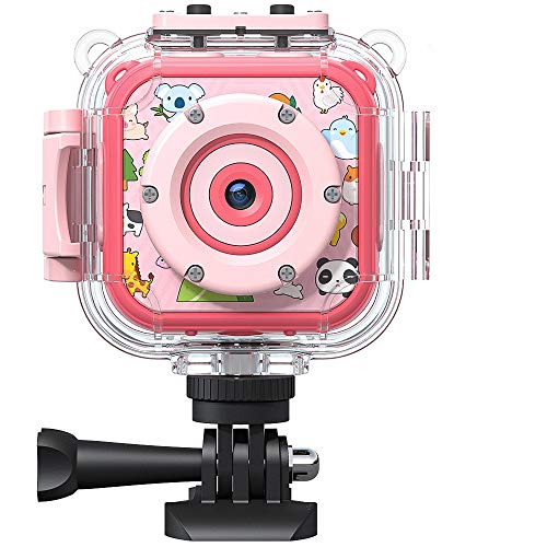 Victure Kids Camera Waterproof 1080p Full HD Video Camcorders Sports Action Digital Camera with 16GB SD Card for Girls Boys Birthday Gifts Toys