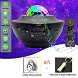 ANDRIMAX Star Projector, 3 in 1 Voice Control Star LED Night Lights with Bluetooth Speaker and Timer, Perfect Decoration for Kids Bedroom, Party (Black)