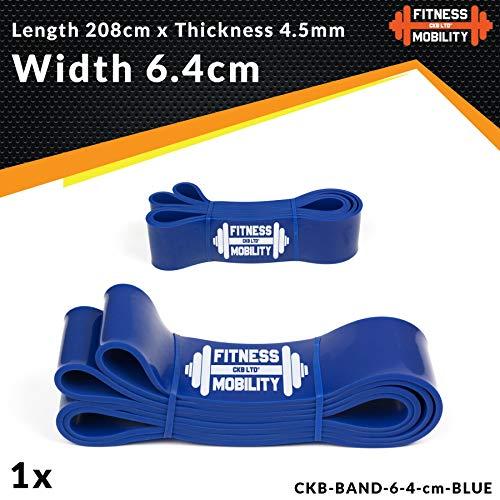 Blu 6.4 cm 27-68kg RESISTENZA BAND Pull Up Bande Esercizio Loop Band Corpo Resistenza Di Addestramento UNITÀ SINGOLA Trazioni alla Sbarra Assistite Fasce Elastiche per l'Allenamento CrossFit