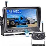 Wireless RV Backup Camera HD 1080P Rohent R5 Rear View Camera System 7 Inch Touch Key DVR Monitor for RVs Trucks Trailers Bus 5th Wheel with Adapter Compatible with Furrion Pre-Wired Mounting Kit RV