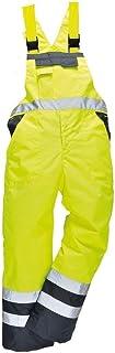 Stormway Men's Hi Vis Contrast Bib and Brace Waterproof Workwear Ulined Overall Dungarees