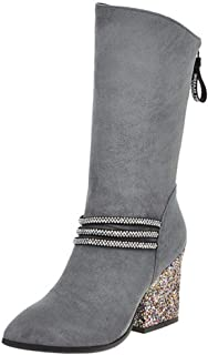 KemeKiss Women Fashion Western Boots High Heel Ankle Bootie