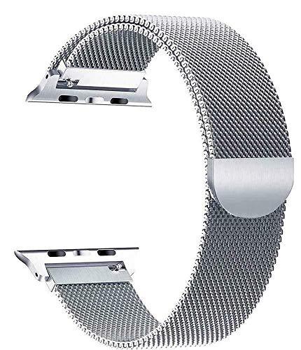 Correa magnética de acero inoxidable para Apple Watch de 42 mm y 44 mm de metal para iWatch Series 6/5/4/3/2/1