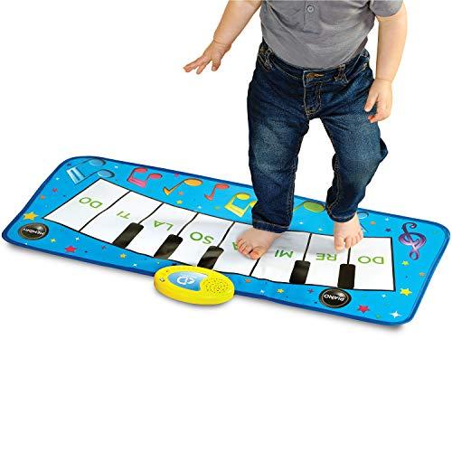 Discovery Kids – Alfombrilla de música para teclado de piano con canciones infantiles integradas y…