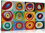 Farbstudie Quadrate von Wassily Kandinsky Kunstdruck auf
