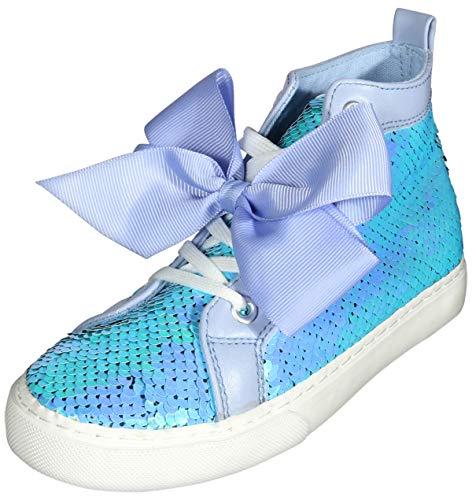 JoJo Siwa Girls' Reversible Sequins High Top Sneakers, Lavander, Size 12 Little Kid