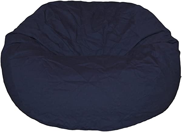 Ahh Products Navy Organic Cotton Large Bean Bag Chair