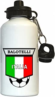 Custom Image Factory Mario Balotelli (Italy) Soccer Water Bottle White