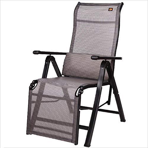 XITER HOME Chaise Longue/Sedia a Dondolo Garden Courtyard Sedia per Esterno Casual Moderna in Alluminio reclinabile Portatile