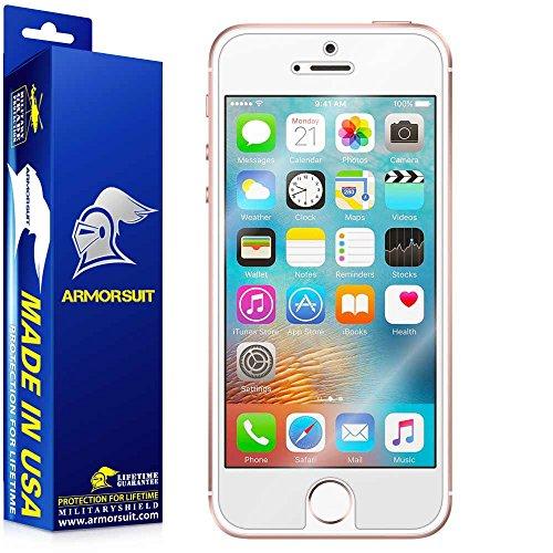 Armorsuit MilitaryShield® Apple iPhone SE Case Friendly Screen Protector Anti-Bubble Ultra HD Shield w/Lifetime Replacements