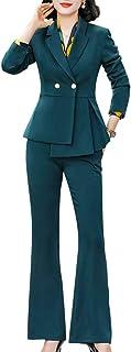 LISUEYNE Women's 2 Pieces Office Blazer Suit Slim Fit Work Suits for Women Casual Blazer Jacket and Pant Suits