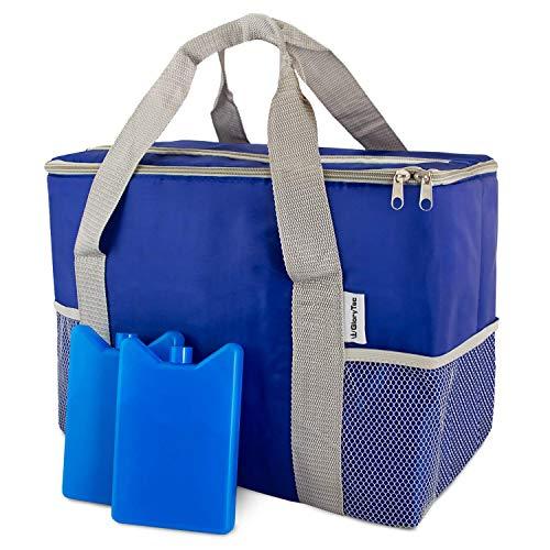 Glorytec Kühltasche 20l inklusive 2 Kühlakkus - mit integriertem Flaschenöffner - praktisches Fach auf der Oberseite & seitliche Einstecknetze - aus hochwertigem Oxford Polyester