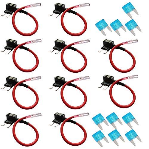 Mintice™ 10 X voiture 12V 24V ajouter un circuit piggy fusible du robinet de retour porte-lame style mini fusible 15A