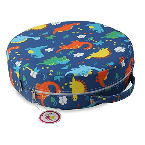 Zicac Kids#039 AntiSlip Chair Booster Seat  High Chair Dining Seat Pad Dismountable Round Booster Seat Cushion Dark Blue