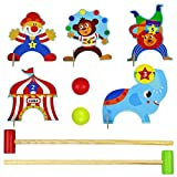 Croquet Infantil De Madera Golf Niños Multicolor Circo Animales Del Bosque Juegos De Entretenimiento Al Aire Libre Deportes Juguetes Educativos Regalos Para Cumpleaños De Niños Niño De 3 4 5 6 Años