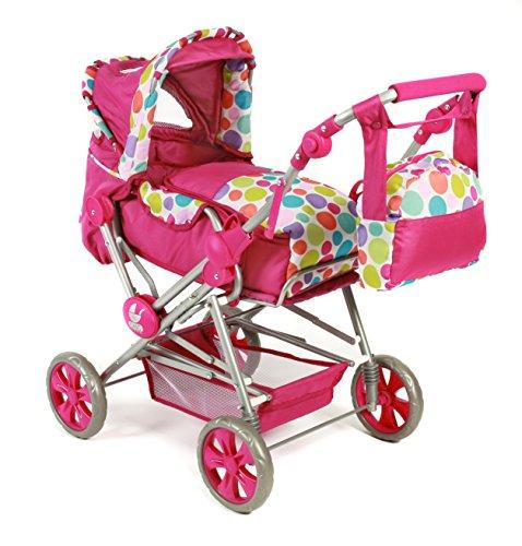 Bayer Chic 2000 562 17 - Kombi-Puppenwagen Roadstar, Pinky Bubbles