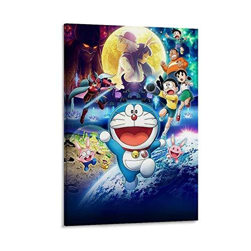 WXXF Doraemon Nobita's Chronicle of The Moon Exploration 2019 - Póster decorativo para pared (30 x 45 cm)