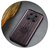 Shockproof Real Wood TPU Frame Phone Case for Huawei Mate 40 Pro Case Sandalwood Full Cover Coque...