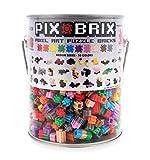 Pix Brix Pixel Art Puzzle Bricks Bucket – 1,500 Piece Pixel Art Kit with 10 Colors, Medium Palette – Patented Interlocking Building Bricks, Create 2D and 3D Builds – Stem Toys, for Age 6 Plus