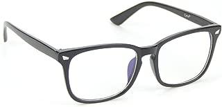 Cyxus Blue Light Filter Computer Glasses Blocking UV Anti Eye Fatigue Transparent Lens Unisex Eyewear Anti-Radiation Matte Black Frame