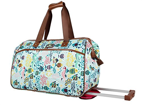 Lily Bloom Luggage Designer Pattern Suitcase...