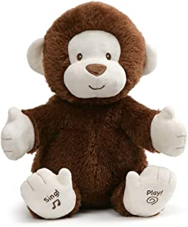 GUND Animated Clappy Monkey Singing and Clapping Plush Stuffed Animal, Brown, 12
