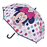 CERDÁ LIFE'S LITTLE MOMENTS- Paraguas Burbuja Manual de Minnie Mouse- Licencia Oficial Disney, Color Azul (2400000613)