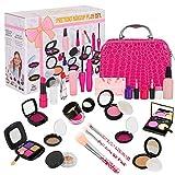 Winload 22 Piezas Juguetes de Maquillaje para Niñas, Pretender Set de Maquillaje, con Bolsa de Cosméticos, Fiesta Cumpleaños Chicas Mayores de 3 Años (No es Maquillaje Real)