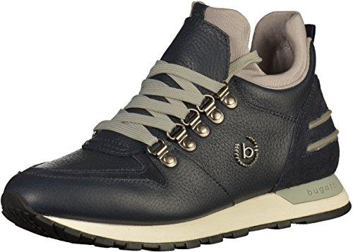 bugatti Damen 421285301014 Hohe Sneaker, Blau (Dark Blue/Grey), 42 EU