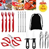 Seafood Tools Set,Crab Lobster Crackers and Picks Set,Crab Leg Crackers and Tools Nut Cracker Forks Set Opener Shellfish Lobster Leg Sheller Knife Kitchen Accessories