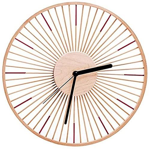 Houten wandklok Moderne holle kleurrijke klok stille wandklok