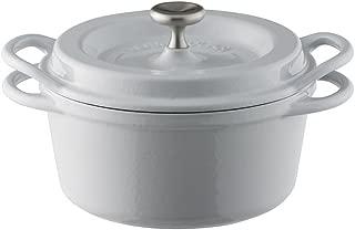 バーミキュラ オーブンポットラウンド 14cm 無水 ホーロー鍋  専用レシピブック付 ストーン
